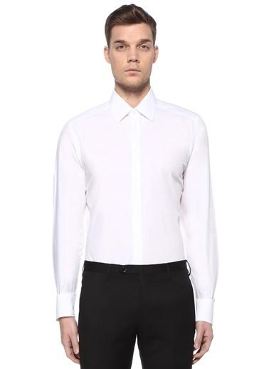 Dolce&Gabbana Dolce&Gabbana   İngiliz Yaka Logolu Gömlek 101478930 Beyaz